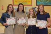 2018 Cape Ann League All-Star Award Samantha Lebruska, Samantha Lebruska, Sophia Wilkinson, Melissa Morelli