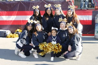 Go-Tigers-Go: the talented Pope John cheerleaders at Gillette.