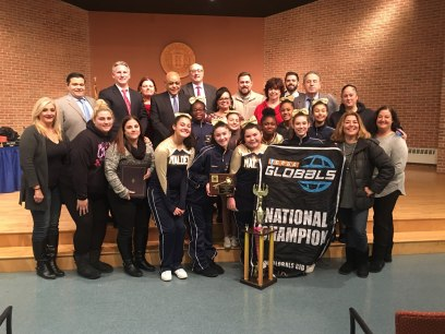 The City Council congratulates the Malden Cyclones Junior Varsity squad for achieving first place at the Pop Warner National Cheer & Dance Championships at Disney World.