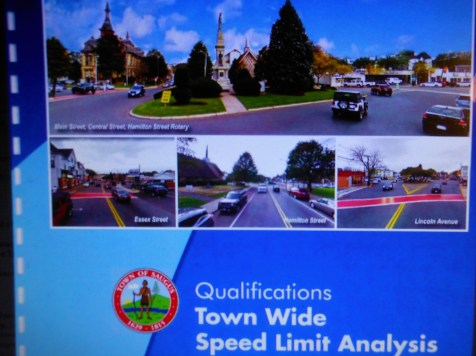 THE GAME PLAN: A key part of Town Manager Scott C. Crabtree's strategy for addressing pedestrian and traffic safety issues in Saugus is the hiring of a consultant to conduct a town-wide speed limit analysis. (Saugus Advocate Photo by Mark E. Vogler)