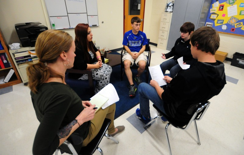 Restorative dialogue training - Photo credit: Jim Vaiknoras - The Hechinger Report