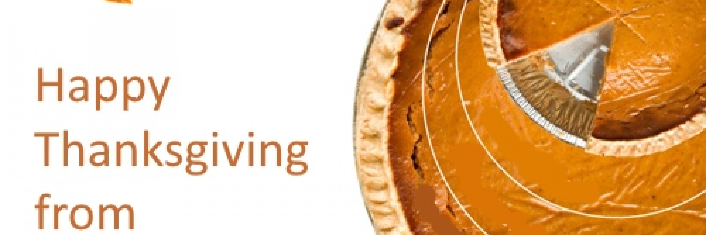 Thanks for helping us expand the pie - Happy Thanksgiving from Advoz!