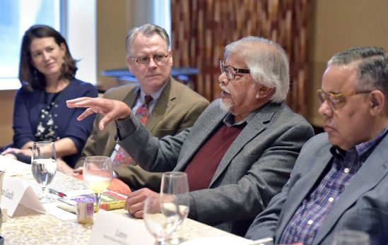 Arun Gandhi speaks about Lancaster's history of division and dialogue