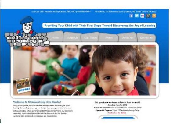 Adventure Web Productions has launched Stonewall Day Care Center 's New Website.