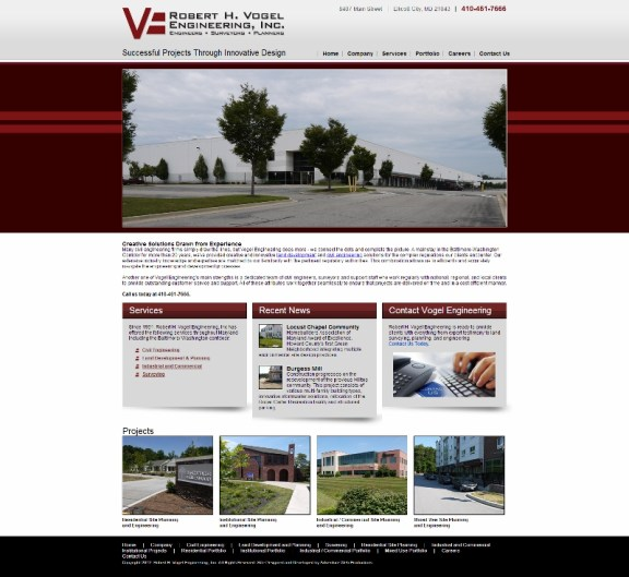 Adventure Web Productions has launched Robert H. Vogel Engineering