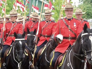 RCMP on march