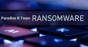 Remove Paradise R Team Virus (+Decrypt .[blackblackra@tuta.io].b1  files)