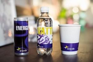 Bravida energidryck vatten mugg
