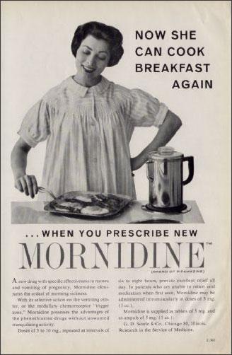 Vintage Drug Ad, Mornidine