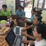 ADWLE Staff working on the website
