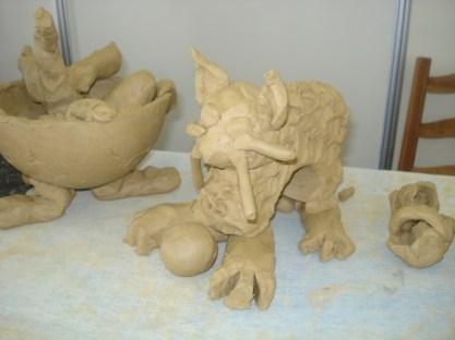 Imagens de trabalhos feitos pelos alunos do Curso Cerâmica e Inclusão. UFRGS. 2010 1
