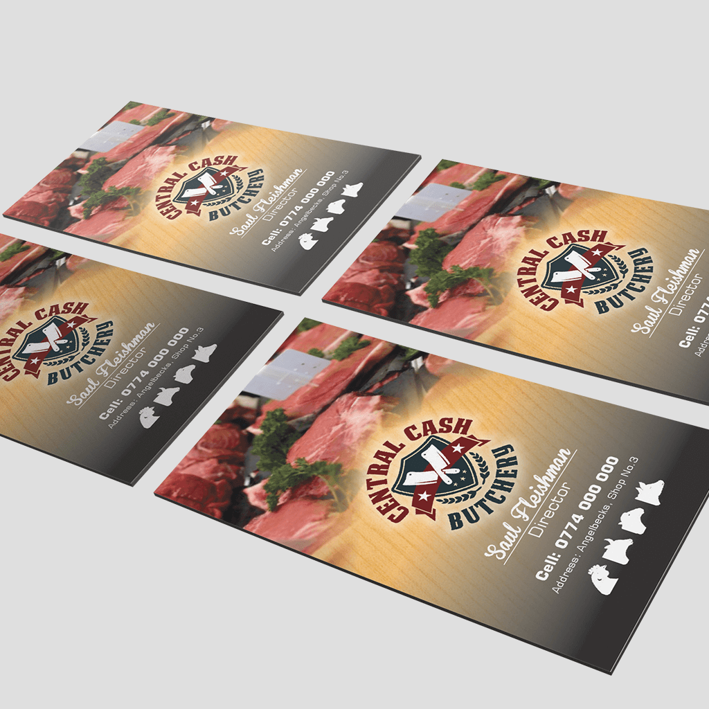 Central Cash Butchery Business Cards By Adzept Creative Agency