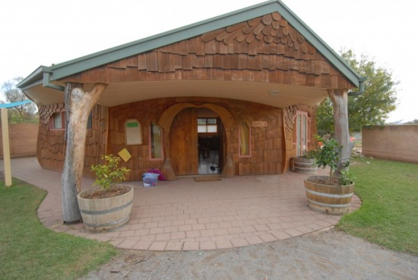 Classroom building from Waldorf School in Willunga, Australia.