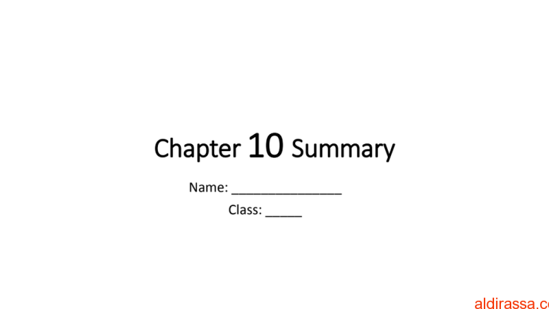 الوحدة 10 علوم الصف الثامن منهج انكليزي
