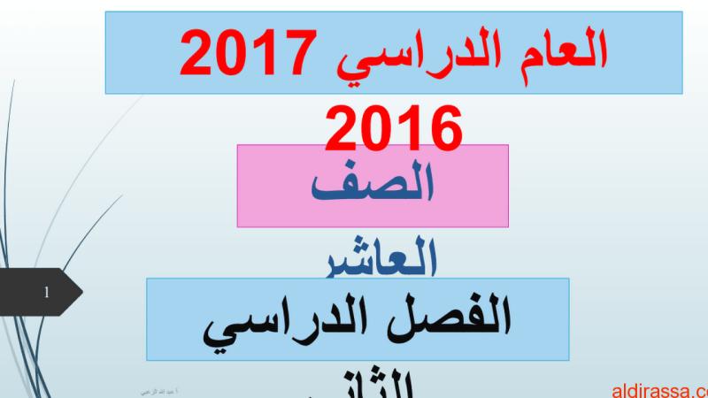 دليل المعلم لغة عربية الصف العاشر الفصل الدراسي الثاني