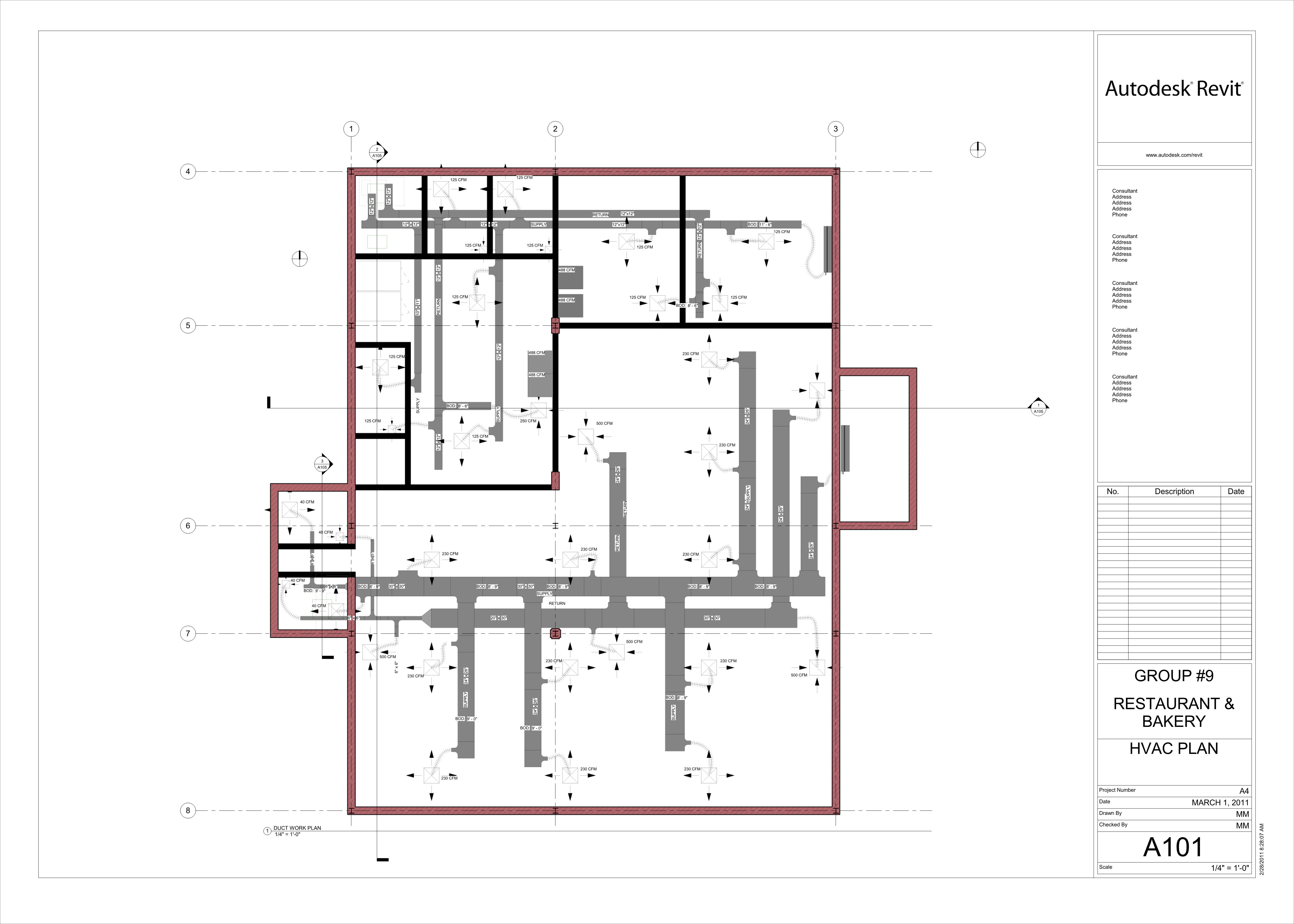 Hvac Drawing Layout