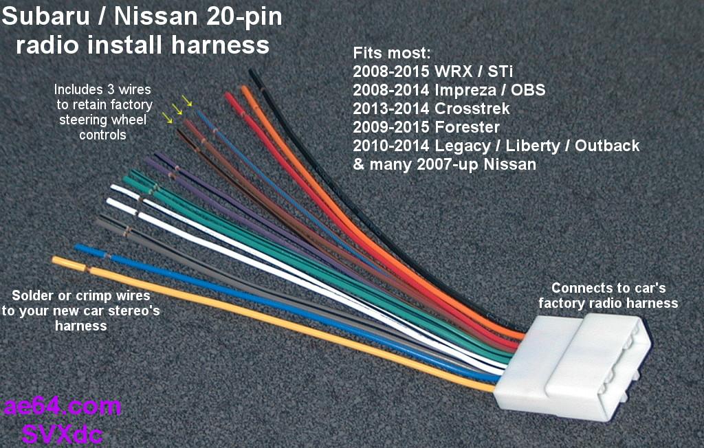 20 pin_forward?resize=665%2C423 wiring diagram 2009 subaru impreza the wiring diagram subaru stereo wiring harness diagram at bayanpartner.co