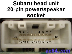 Subaru 20pin radio harness pinout