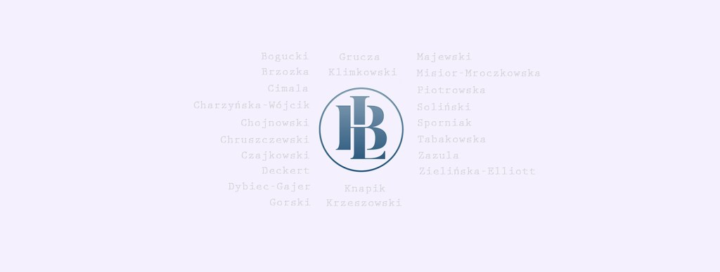 Beyond Language Logo in decending gratient of blue with names of Volume 1 authors pooled around it