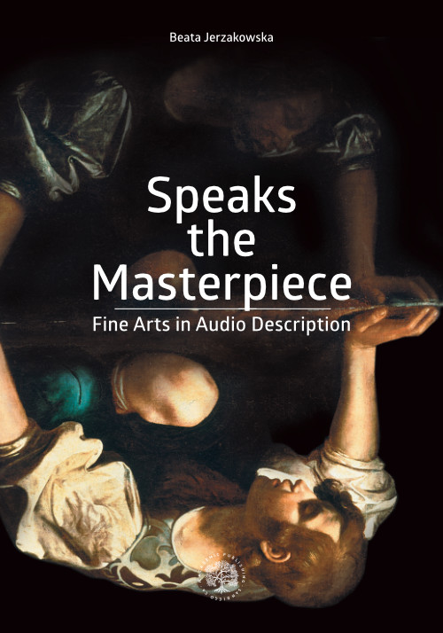 """Speaks the Masterpiece cover. An upside down painting of Narcissus looking at his reflection in water such that the distorted and difficult-to-make-out image appears above and the clearer image appears below in the """"reflection"""""""