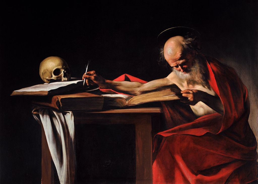Saint Jerome Writing,by Caravaggio