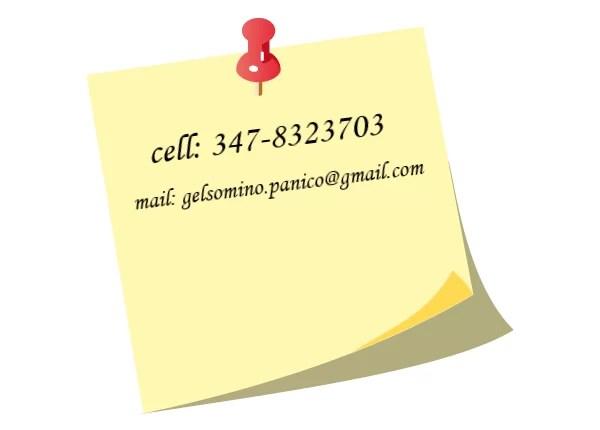 numero di telefono e indirizzo e-mail