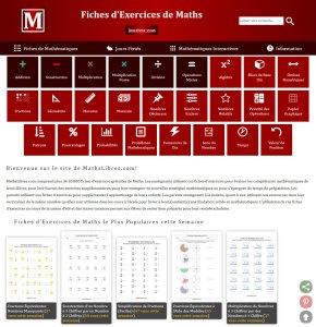 aperçu du site internet maths libres