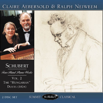 Schubert: Four-Hand Piano Works, vol. 2 – Aebersold and Neiweem piano duo
