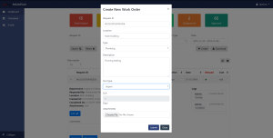 AEBISS Workorder System- Create new workorder