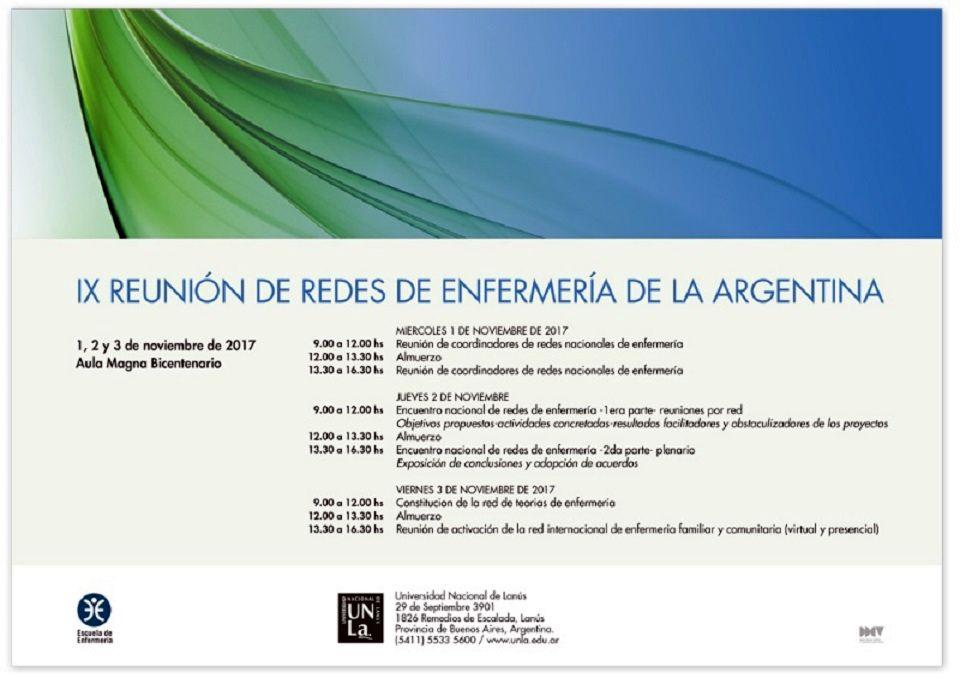 IX Reunion de Redes de Enfermeria