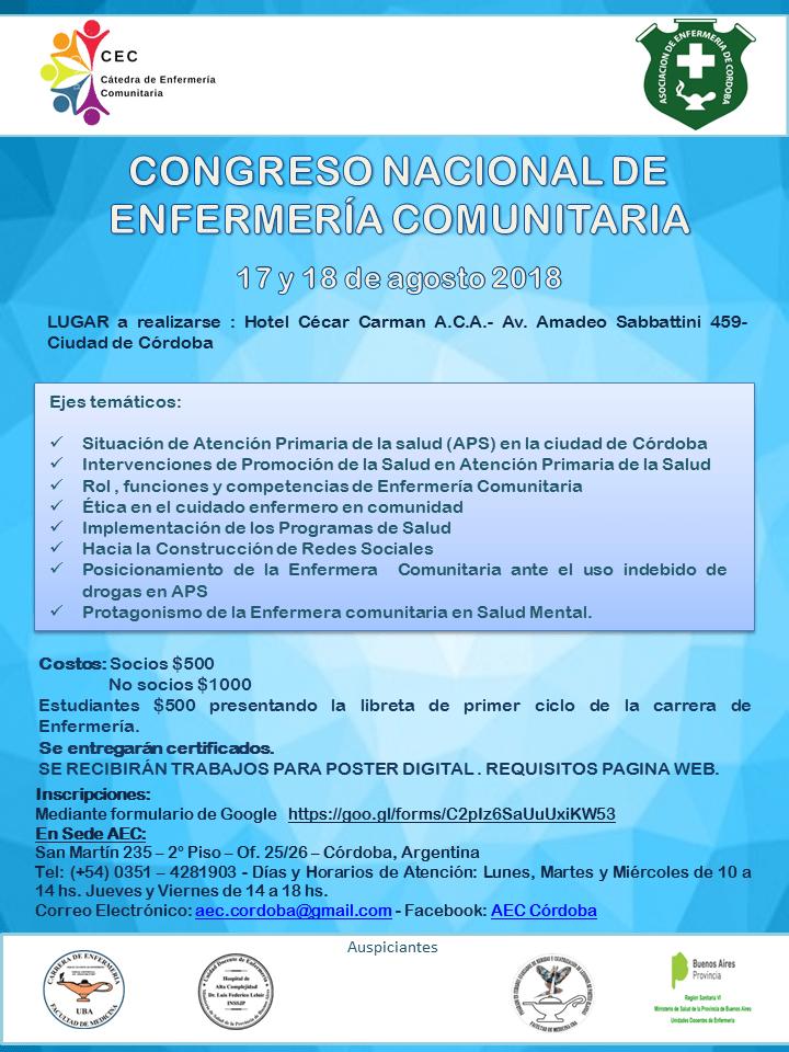 Congreso Nacional de Enfermería Comunitaria