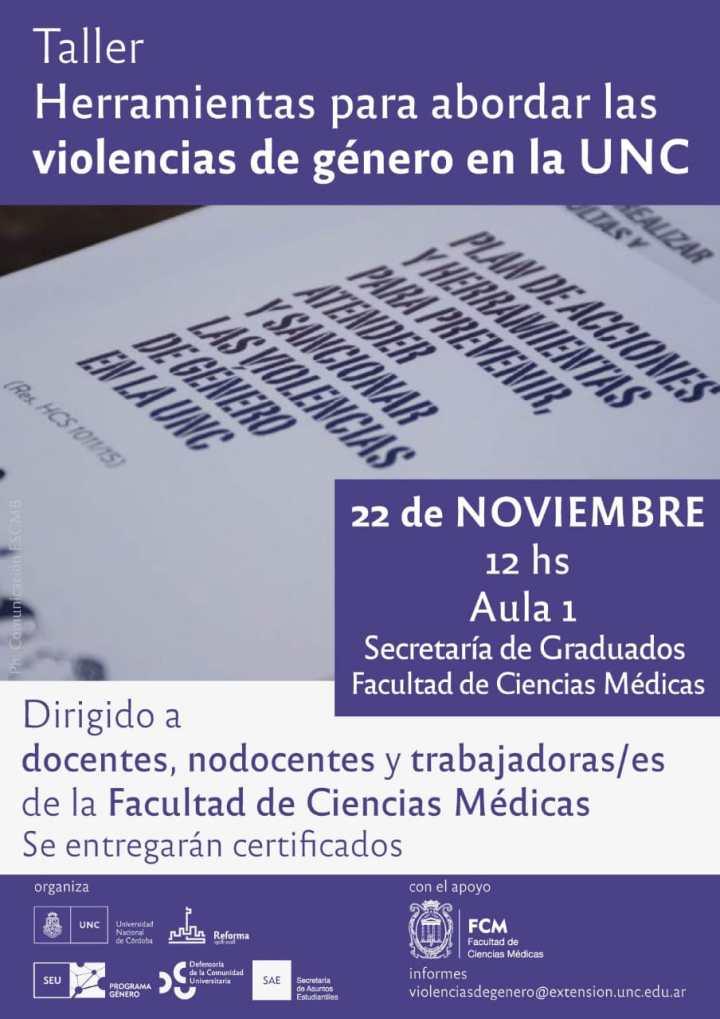 Taller: Herramientas para abordar las violencias de genero en la UNC