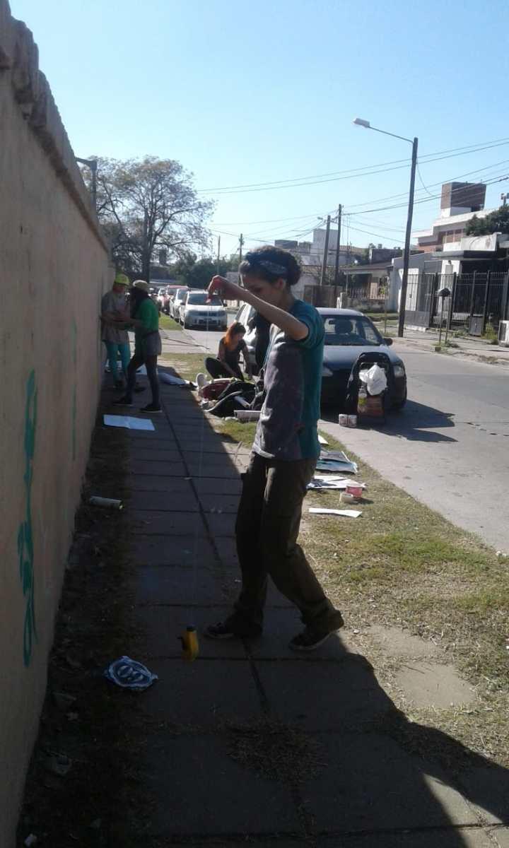 Actividades por los 60 años de AEC - Pintada de Mural - 14