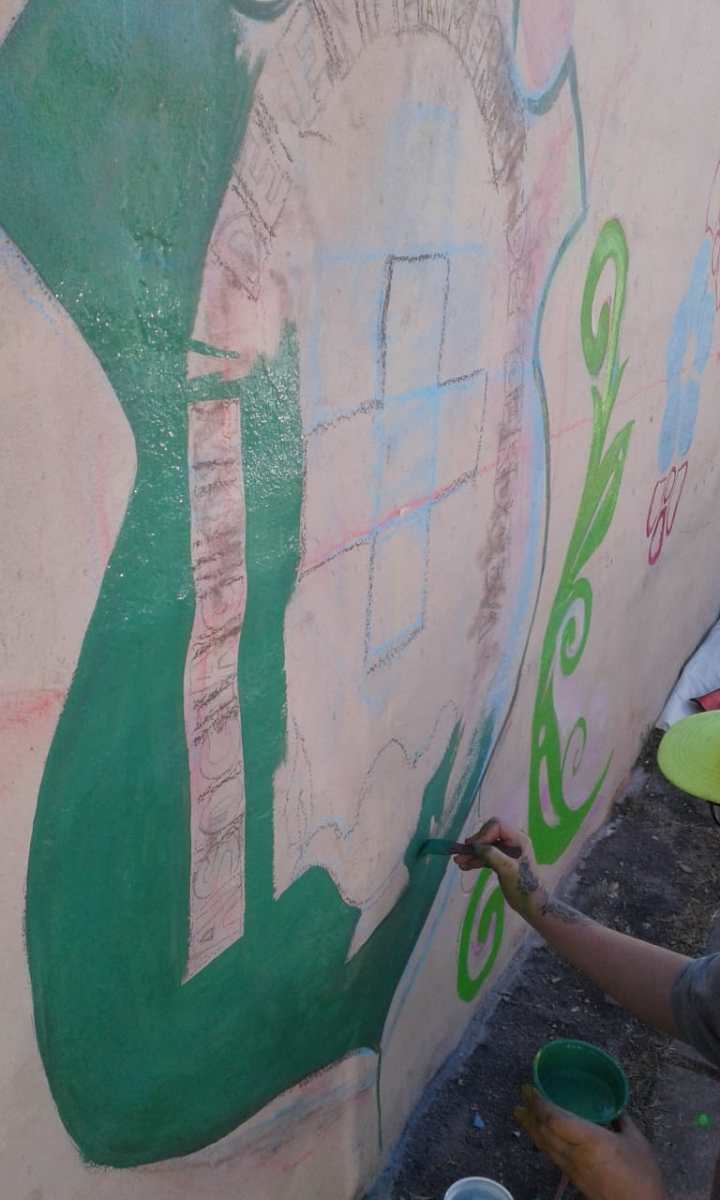 Actividades por los 60 años de AEC - Pintada de Mural - 2