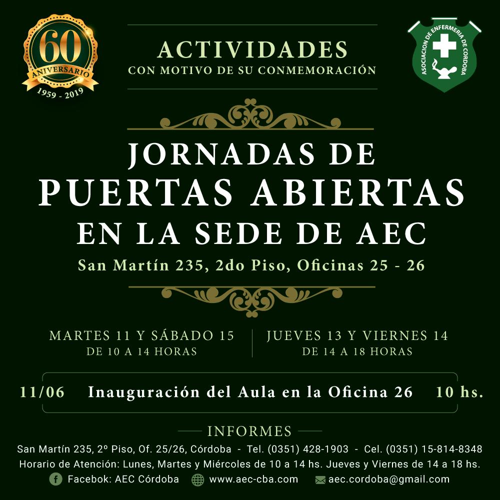 JORNADAS DE PUERTAS ABIERTAS EN AEC - 11 AL 15 DE JUNIO -
