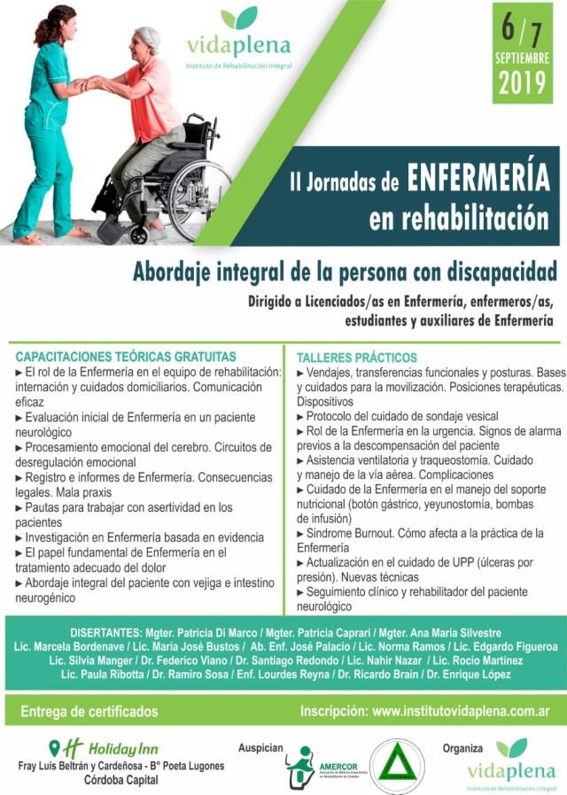 SEGUNDAS JORNADAS DE ENFERMERÍA EN REHABILITACIÓN/DISCAPACIDAD - 6 Y 7 DE SEPTIEMBRE EN EL HOTEL HOLIDAY INN, CÓRDOBA -