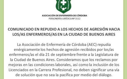 COMUNICADO EN REPUDIO A LOS HECHOS OCURRIDOS EN BUENOS AIRES