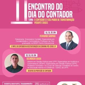 Estão abertas as inscrições para o II Encontro do Dia do Contador; confira a programação