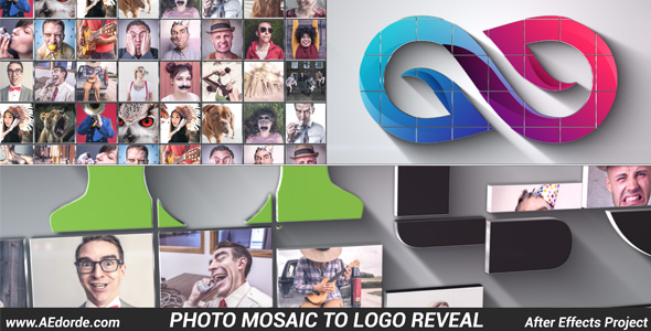 Photo Mosaic to Logo Reveal