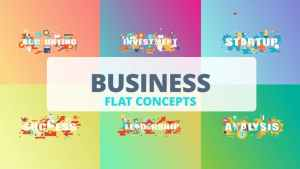 Business - Typography Flat Concept