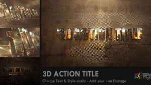 3D Action Title Opener