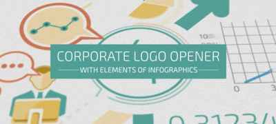 Corporate Logo Opener With Elements Of Infographics