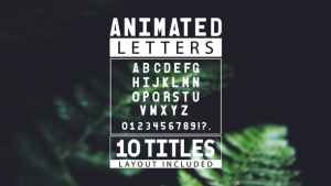 Animated Letters & 10 Titles Layout