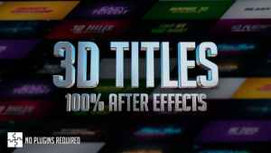 3D Titles - No Plugins