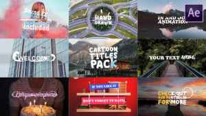 Cartoon Titles Pack   After Effects Template