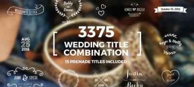 Elegant Wedding Title Combination Pack