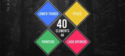 40 Simple Titles - Lower Thirds - Pointers - Logo Openers