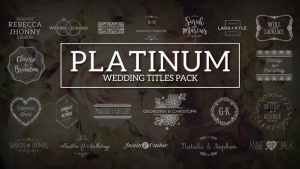 Platinum | Wedding Titles Pack