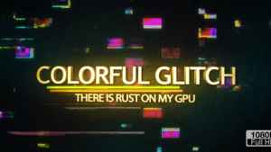 Colorful Glitch Reveal HD